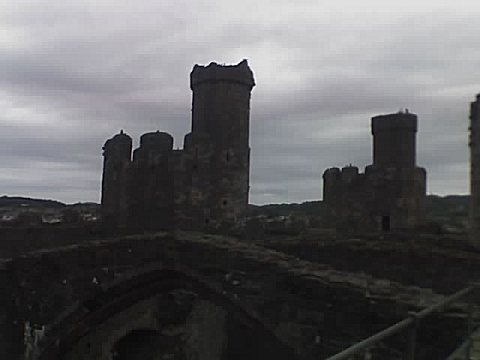 view across the castle top